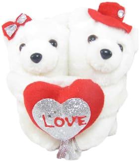 Tickles White Teddy Bear - 14 cm