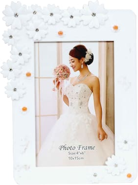 Tickles White 4 x 6 Designer photo frame Valentine Gift