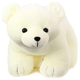 Tickles White Polar Bear Stuffed Soft Plush Toy Love Girl 25 cm
