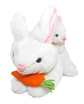 Tickles White Mother Rabbit With Baby Stuffed Soft Plush Toy 35 Cm