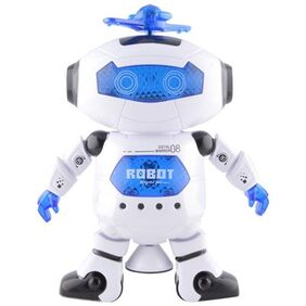 Tickles White Naugty Dancing Robot Toy 22 Cm
