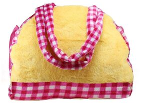 Tickles Yellow Soft HandSchool Bags with Adjustable One Side Sling For Kids 28 cm ( 3 Liters )