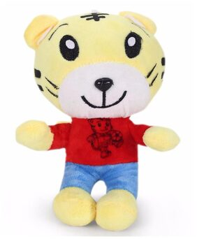 Tickles Yellow Smarty Tiger Stuffed Soft Plush Toy- 22 Cm