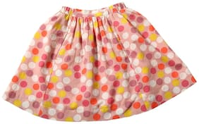 TIDDLYWINGS Girl Cotton Solid A- line skirt - Multi