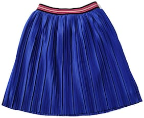 TIDDLYWINGS Girl Polyester Solid A- line skirt - Blue