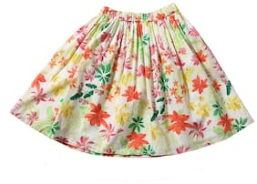 TIDDLYWINGS Girl Cotton Printed A- line skirt - Multi