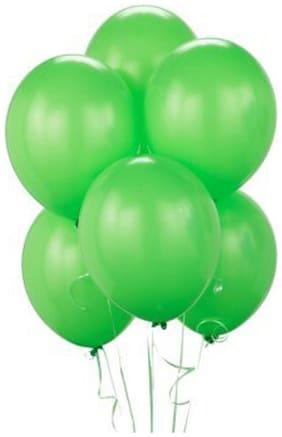 Tiger 50015 Metallic Plain Large Green Balloon (Pack of 50)