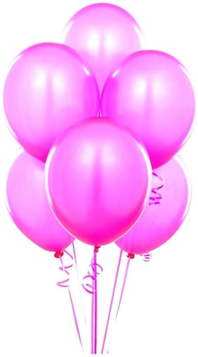 Tiger 50019 Metallic Plain Large Pink Balloon (Pack of 50)
