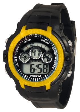 TIME UP Digital Big Size Dial Multi-functions Sports Watch For Kids-YS45-RING-YELLOW