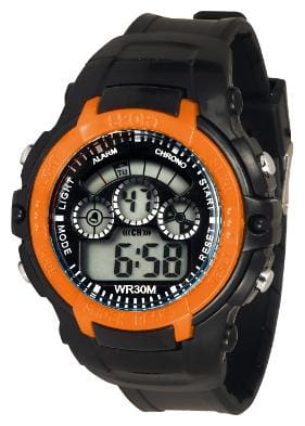TIME UP Digital Big Size Dial Multi-functions Sports Watch For Kids-YS45-RING-ORANGE