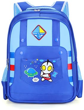 Tinytot Blue School Backpack For Primary - 5th Std.; Boys & Girls;Capacity 19 Litre
