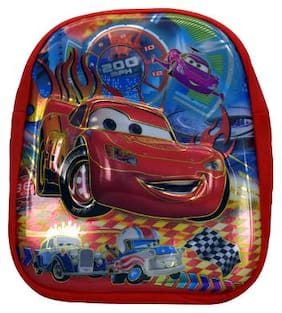 Tinytot Car Designer Kids School Bag (Red)