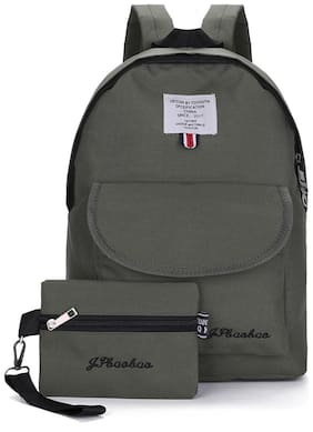 Tinytot Dark Green School College Travel Backpack with Pencil Pouch for Girls;Capacity 18 Litre