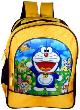 Tinytot Designer Doraemon School Bag for Boys (Yellow)