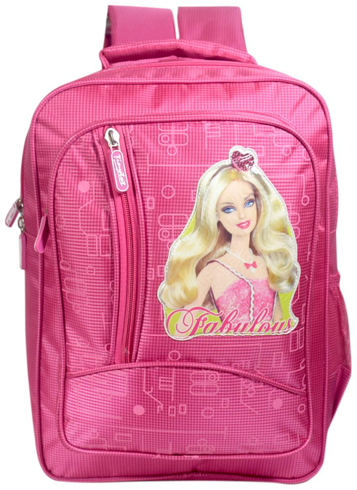 Tinytot Designer Barbie School Bag for Girls  Pink
