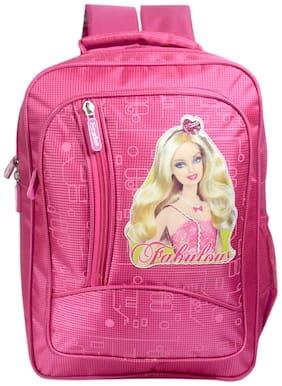 Tinytot Designer Barbie School Bag for Girls (Pink)