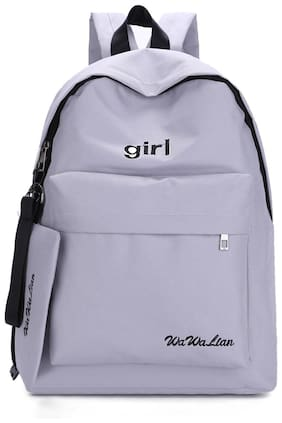 Tinytot Grey School College Travel Backpack for Girls;Capacity 18 L