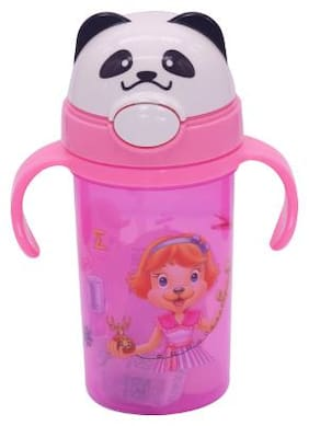 TINYTOT Kids Water Bottle 450 ml (Baby Pink)