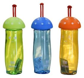 TINYTOT Kids Water Bottle 450 ml (Multicolor) Pack of 3