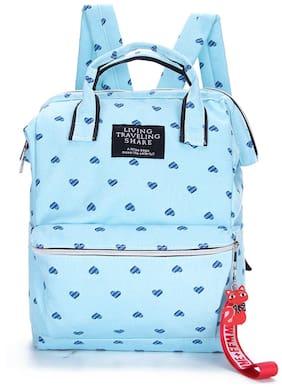 Tinytot Light Blue School College Travel Backpack for Girls;Capacity 18 L