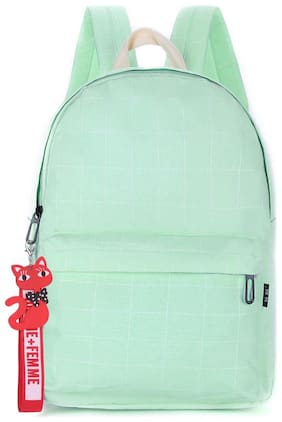 Tinytot Light Green School College Travel Backpack for Girls;Capacity 18 Litre