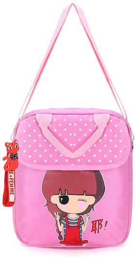Tinytot Multicolor School Backpack for Play School Nursery Kids; Girls;Capacity 7 L