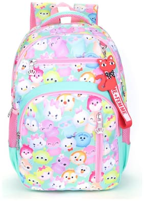 Tinytot Multicolor_1 School Backpack For 3rd - 10th Std.; Girls;Capacity 26 Litre