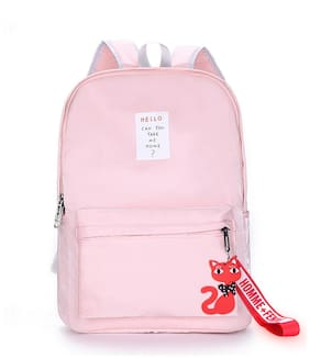 Tinytot Pink School College Travel Backpack for Girls;Capacity 18 Litre