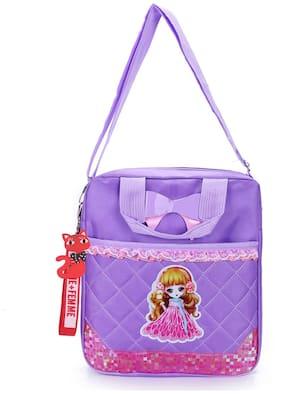 Tinytot Purple School Backpack for Play School Nursery Kids; Girls;Capacity 7 Litre