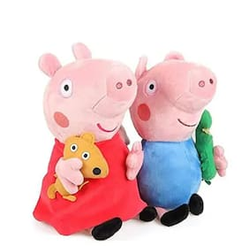 TIVEDA cute & attractive George and Peepa Pig for kids;gift & decoration set of 2