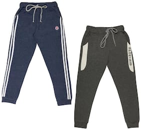 Todd N Teen Boys Combo Set of 2 Cotton Joggers 15-16 years blue black