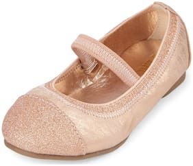 THE CHILDREN'S PLACE Gold Ballerinas For Infants