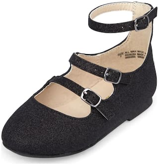 THE CHILDREN'S PLACE Black Ballerinas For Infants