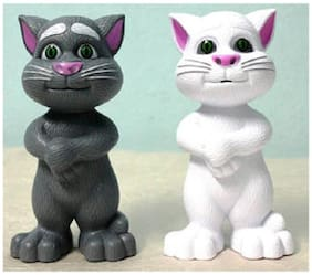 Tom Grey And White 1 Piece Intelligent Touch Talking Cat