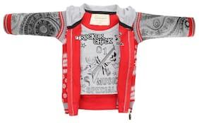 TonyBoy Boy Cotton Printed Sweater - Red