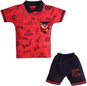 TOONYPORT Baby boy Top & bottom set - Red