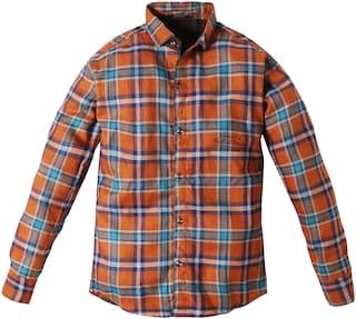 TOONYPORT Boy Cotton blend Checked Shirt Brown