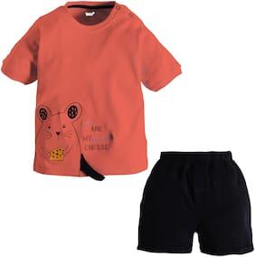 TOONYPORT Baby girl Top & bottom set - Orange & Black