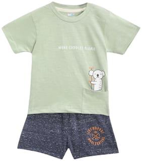TOONYPORT Baby boy Top & bottom set - Green & Blue