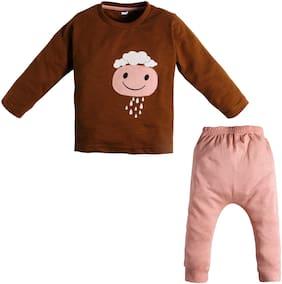 TOONYPORT Baby boy Top & bottom set - Brown & Pink