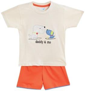 TOONYPORT Baby boy Top & bottom set - Cream & Orange