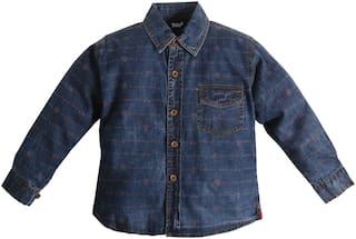TOONYPORT Boy Denim Printed Shirt Blue