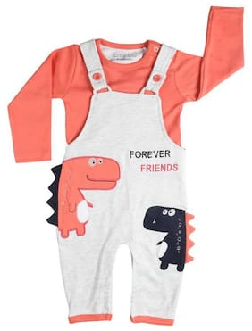 TOONYPORT Baby boy Cotton Printed Romper - Pink