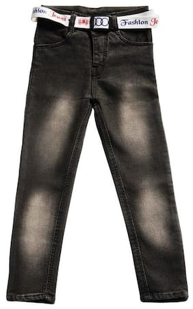 Toonyport Full Length Faded Jeans for boys -Brown