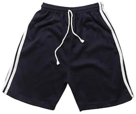 TOONYPORT Kids Cotton Solid Shorts Half Pants for Boys - Blue