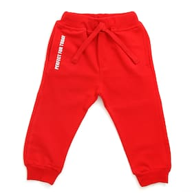 TOONYPORT Baby boy Cotton blend Printed Trousers - Red