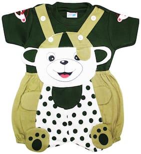Toonyport Polka Dots Print Baby Dungree Dress - Multi