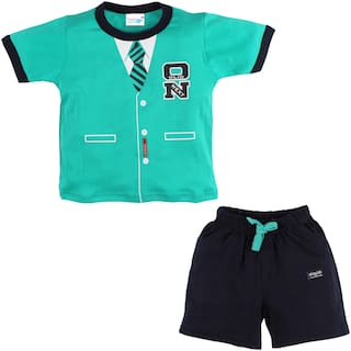 TOONYPORT Baby boy Top & bottom set - Green & Black