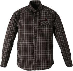TOONYPORT Cotton blend Checked Shirt for Baby Boy - Brown