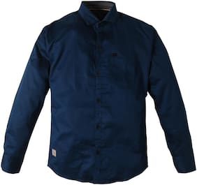 TOONYPORT Boy Cotton blend Solid Shirt Blue
